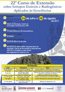 Curso de extensão 2017 Julho  24 a Agosto 8 2017